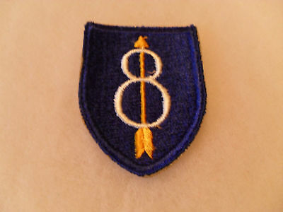 Wwii Variant 8Th Inf Div With Flat Top Cotton Cut Edge