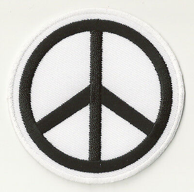 Ecusson patche thermo hotfix Peace and Love patch brodé transfert badge