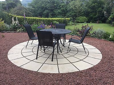 3.46M (11Ft4) Rotunda Circle Patio Paving Slab Free Delivery Note Exceptions (2)