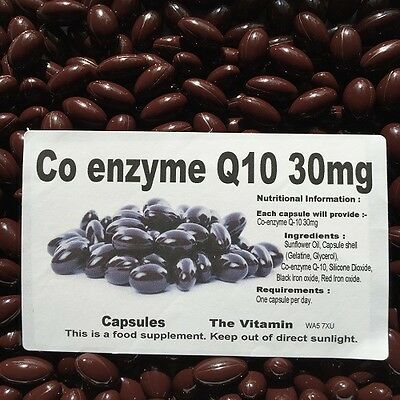 Co-enzyme Q-10 (30mg) 180 capsules One per day      (L)