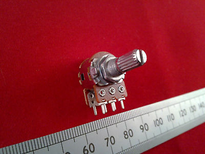 Stereo Potentiometer 16mm, Audio Taper Splined Dual Log A Volume Control Pot