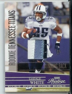 2006 PRESTIGE LENDALE WHITE ROOKIE 3 CLR PATCH #D /100