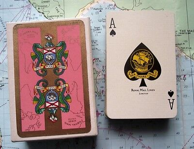 Box Vintage Royal Mail Line Seahorse Playing Cards