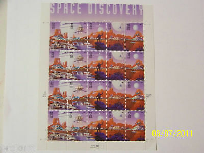 Full Pane Space Discovery 32¢ Unused Stamps #3238-3242
