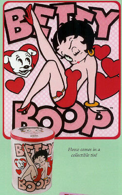Betty Boop Fleece Throw in Decorative Tin MIP