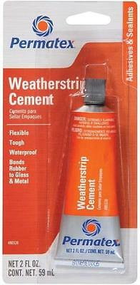 New Permatex 80328 2Oz Tube Clear Weatherstrip Cement Adhesive Glue 1464502