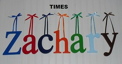 """Wooden Wall Letters 6"""" size Painted Wood Children Nursery Playroom Names Times"""