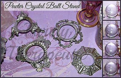 1x CRYSTAL BALL STAND~Butterfly Celtic Fancy~PEWTER