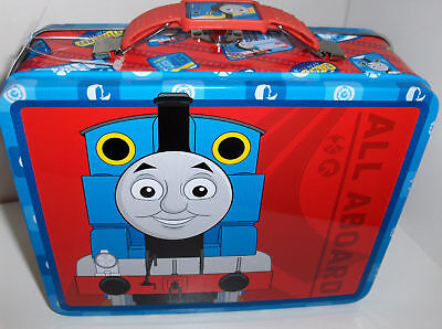 Thomas The Train-All Aboard Train`Metal Lunchbox`New With Tags-: Free To US