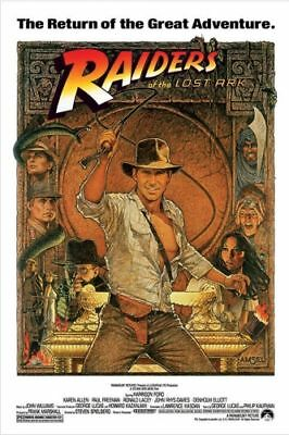 "Raiders Of The Lost Ark - 1982 Movie Poster (24"" X 36"")"
