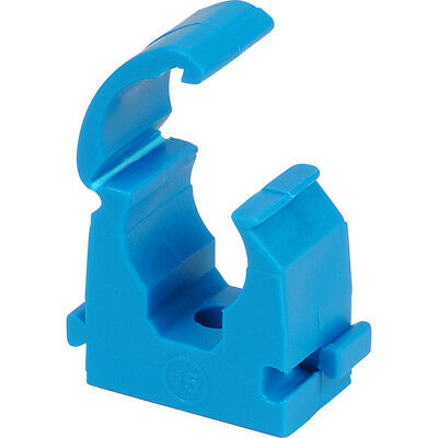 NEW 4 X MDPE water Pipe hinged BLUE clip 20mm,25mm,32mm TALON. You choose size