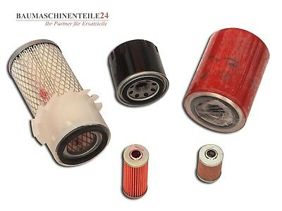 Filter Set für Takeuchi TB 015 Yanmar 3TNA72L UTBZ