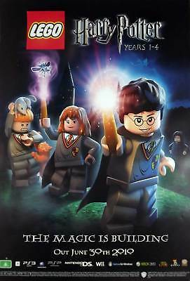 LEGO HARRY POTTER POSTER Ron Hermione Hogwarts wand NEW