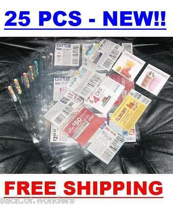 (25) Coupon Sleeves Pages for Binder 9 Pockets - NEW!! - Baseball, Trading Cards