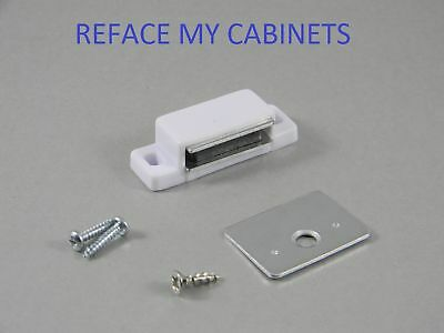 Lot Of (50) Cabinet  Magnetic Catches & Strikes White