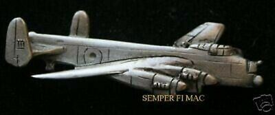 Avro Lancaster PEWTER HAT LAPEL PIN MADE IN US TIE TAC MILITARY RAF RCAF GIFT