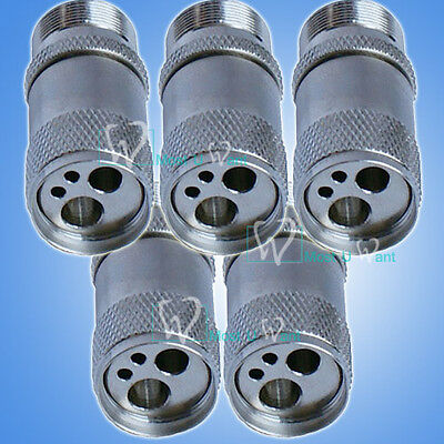 5pcs Dental New 4Hole Handpiece to 2-Hole Chair Unit Tubing Adaptor B2 to M4