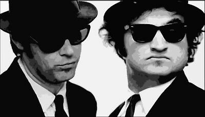 Blues Brothers Popart Style Oil Painting 28x16 inches