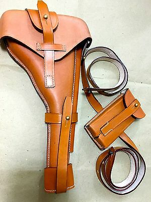 """Luger P-08 8"""" Artillery Holster w. Stock Straps"""
