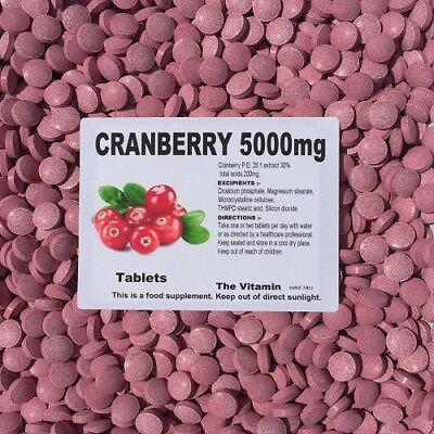 CRANBERRY 5000mg, 60 TABLETS (1 or 2 per day)       (L)