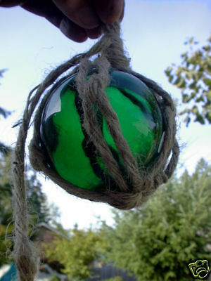 "3"" Green Curio Glass Float Ball Buoy Bouy"
