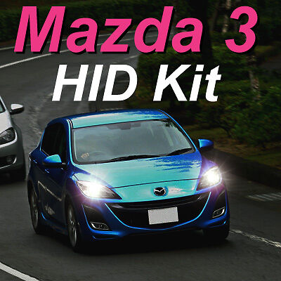 35W H11 6000K HID Kit to suit 2009-2013 Mazda 3 (BL) Low Beam Neo Maxx SP25 MPS