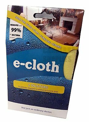 2 x E-CLOTH SUPER SOFT WOOD GLASS FURNITURE HOUSEHOLD CLEANING DUSTERS