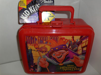 Hunchback Of  Notre Dame-Plastic Lunchbox`New Old Inventory`Free Ship 2 US