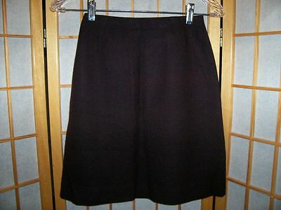 Vtg 60s BOBBIE BROOKS Girls TRENDY BROWN WOOL SKIRT 5
