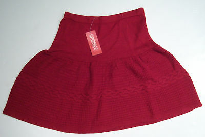 NWT Gymboree Alpine Sweetie Red Cable Sweater Skirt 12