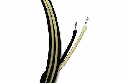Vintage Cloth Wire Black and White for Guitar 5' each