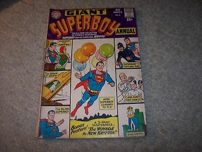 Giant Superboy Annual #1 Early 1960S Nice Shape !!!!