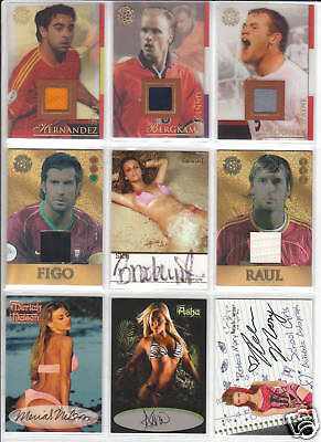 TRADING CARDS:Planche N° 48 COSTUMES,AUTOGRAPHS  divers
