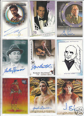 TRADING CARDS:Planche N° 44 COSTUMES,AUTOGRAPHS  divers