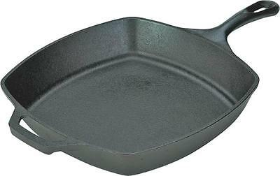 New Lodge L8Sq3 Square 10 1/2 Skillet Fry Pan Cast Iron Usa Made Sale 2040533