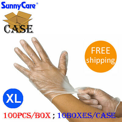 1000 Powder Free Vinyl Disposable gloves for Foodservice (Non Latex Nitrile)  XL