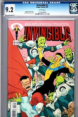 Invincible 3 Image Kirkman Walker Crabtree CGC 9.2 HOT FREE UK POST