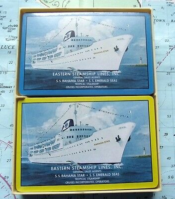 Twin Box c1960 Eastern Steamship Line Playing Cards