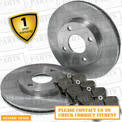 VAUXHALL CORSA D FRONT BRAKE DISCS & PADS 1.3 CDTi Vented 257mm x 22mm 06-