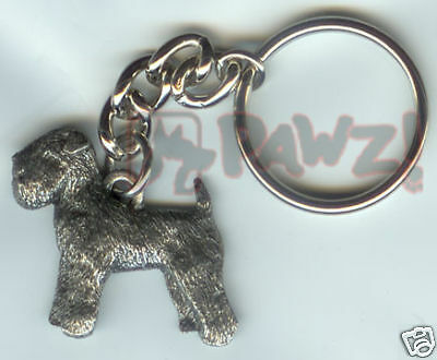 WHEATEN TERRIER Dog Fine Pewter Keychain Key Chain Ring