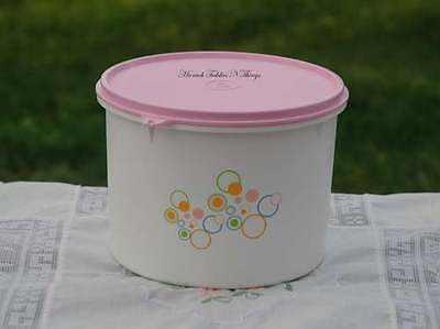 Tupperware  2.25L Pastel Circles Canister Container