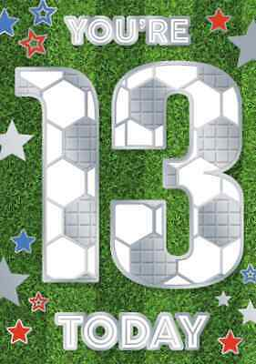 Boys Teenager 13th Happy Birthday Card 13 Today