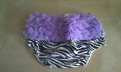 Baby Girl Frilly Zebra Knickers/pants/bloomers 0 - 12 Months