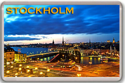 Stockholm Fridge Magnet Souvenir Imán Nevera