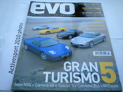EVO Magazine Issue 43 May 2002 cooper s - clio 172 - tuscan  s - M coupe - 4s
