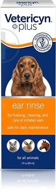 Vetericyn ear rinse Dog Cat all Animal  Ear infections and cleanser 4oz