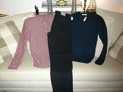 Mens 34 Waist 36 Length Old Navy Pants Sweater & Shirt
