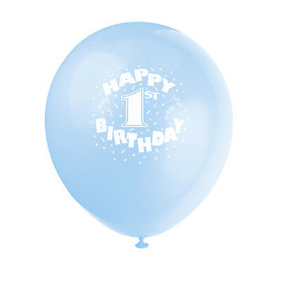 Baby Boy 1st (Age 1) Birthday Party BLUE BALLOONS