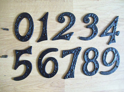 Black Antique Iron House Door Numbers Numerals Heavy