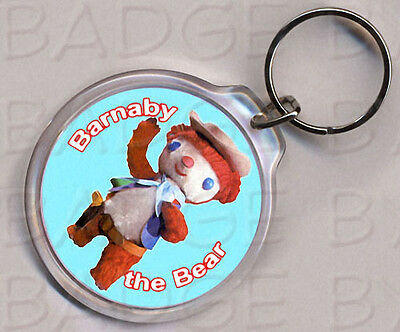 BARNABY THE BEAR  round keyring - RETRO CLASSIC!